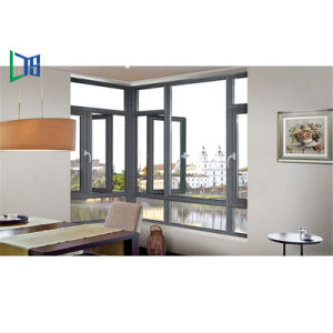 Nuova finestra di alluminio della stoffa per tendine di profilo di risparmio energetico di disegno 2018