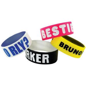 Silicone personalizzato Wristband Bracelet per Adult e Children