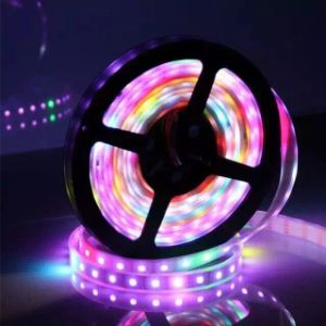 Tira flexible impermeable LED del RGB Ws2812b del pixel 5050SMD