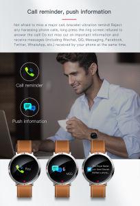 2018 심박수 또는 잠 감시 보수계 또는 앉아 있는 신호 또는 혈압을%s 가진 가장 새로운 다중 기능 둥근 컬러 화면 출력 장치 스크린 스포츠 적당 지능적인 시계