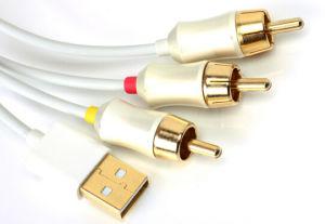 Chapado en oro HDMI para 3 Cable RCA de 1,5 millones de 1,8 millones de 2m 3m 5m