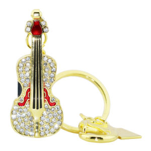 Colore impermeabile dell'oro della chitarra di alta qualità del USB dell'azionamento su ordinazione del pollice