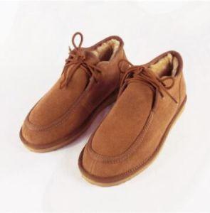 ファッションビジネスの人のための偶然の羊皮の靴