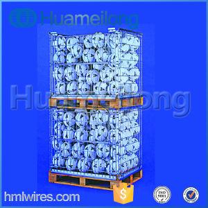Ligue o fio de empilhamento de depósito Ligado Palete de gaiola