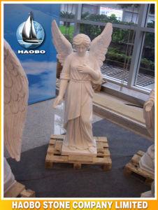 Witte Marmeren Mooie Hand Gesneden Engel van het Standbeeld van de Genade