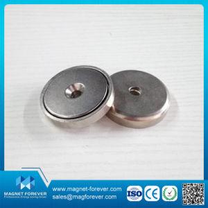 Superficial avellanado Pot NdFeB imán con envoltura de acero inoxidable