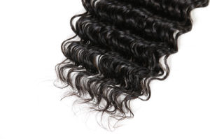Cutícula completo Virgem Onda profunda por grosso de extensões de cabelo humano Brasileiro