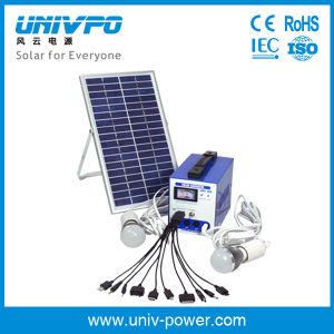 Mini kit de potencia del sistema de iluminación solar Solar/Kit de iluminación del hogar (UNIV-4DS)