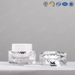 プラスチック空のアクリルの瓶およびふたの化粧品の瓶