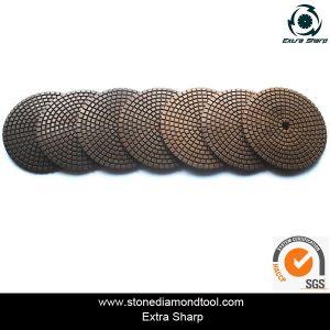 3  tamponi a cuscinetti per lucidare bagnati del diamante dell'obbligazione del Resina-Rame di /80mm