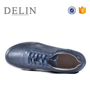 高品質の人の革偶然靴