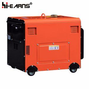 Air-Cooled tipo silencioso grupo electrógeno diesel de color rojo (DG5500SE).