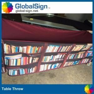 무역 박람회를 광고하는 것은 폴리에스테 직물 테이블 던짐 피복을 인쇄했다