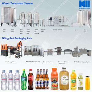 飲む、天然水のびん詰めにする装置