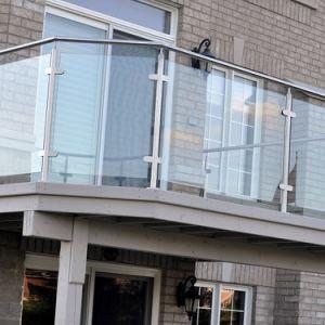 Toebehoren van de Hardware van de Balustrade van het glas de Post voor OpenluchtBalkon
