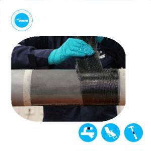 Подземные водопроводные трубы утечки закрепите ленту ремонта трубопроводов наматывается порванный жгут