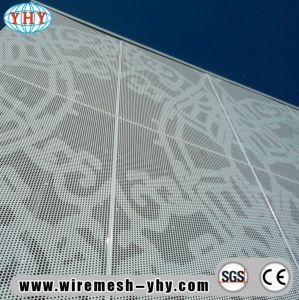 Folha de metal perfurada decorativa brilhante