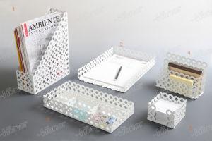 신제품 금속 메시 문구용품 저장 매표소 책상용 부속품