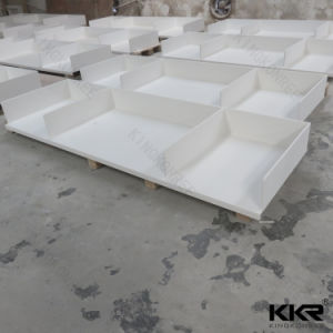 Großhandelsküche-Prüftischoberster fester OberflächenCountertop