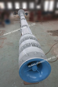 Centrífugo de alta capacidad de bombeo de alcantarillado verticales de flujo mixto