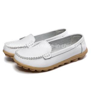 Hotsale zapatos de cuero Casual zapatos planos para la Mujer (FYS814-3)