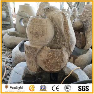 Venta caliente China piedra de mármol o granito natural Fuente de la decoración exterior