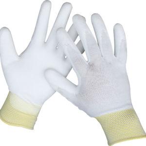 PU нейлон с покрытием полиэстер перчатки
