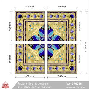 Tegel van het Tapijt van de Vloer van het Patroon van het Bouwmateriaal de Aangepaste (VA12P6056, 1200X1200mm)