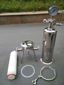 10 Zoll-Edelstahl-einzelnes Kassetten-Filtergehäuse für industrielle Wasser-Reinigung