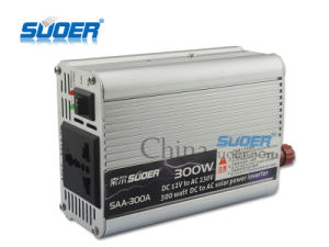 Suoer 300W 12V fuera de la red Onda senoidal modificada inversor de automóvil (SAA-300A)