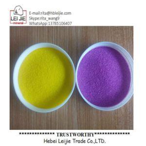 Colorida arena color arena natural para la pintura y revestimientos