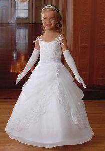 Sweetheart Longueur de thé fleur fille robe de bal robe (Dream-100086)