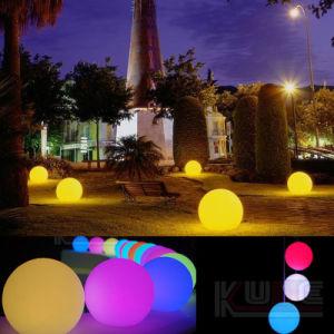 Runder Weihnachtsplastikflitter verziert X'mas LED Kugel Deco mit entfernter Station