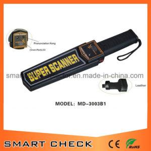 充電電池が付いている携帯用手持ち型の金属探知器ボディスキャンナーの探知器