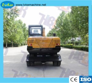 Equipos de construcción de la producción china excavadora ruedas excavadora hidráulica