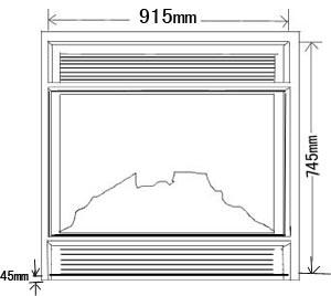 Dekorativer elektrischer Hauptkamin (MF-U23) mit CE/UL genehmigt