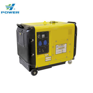 5kw 5kVA de baja potencia de arranque eléctrico Air-Cooled Super Silencioso Generador Diesel tipo Portbable con CE