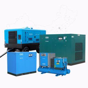 Energiesparender u. lärmarmer doppelter Schrauben-Luftverdichter für Industrie