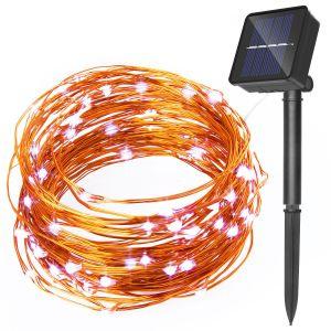 verzieren Solarzeichenkette-Licht des kupfernen silbernen Draht-120LED für Weihnachtsgarten