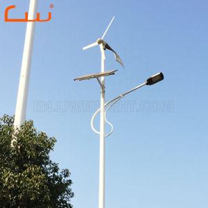 60W 8mの200W風力の太陽ハイブリッドLED街灯