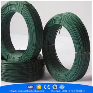 Direto da fábrica de arame de ferro revestida de PVC de retenção de PVC PVC do fio verde do Fio