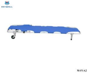 M-F1a2 Hospital Militar em ligas de alumínio Pole Corps Preços Maca dobrável