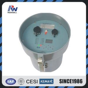 El disyuntor de alta tensión con relé de protección de la línea