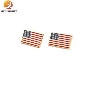 País de América PERSONALIZADA Bandera Insignia de solapa de metal esmaltado