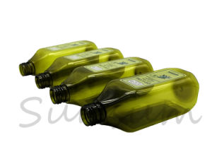 オリーブ油の包装のための緑色の正方形ペットプラスチックびん