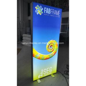 Износопрочная ткань освещения с подсветкой LED дисплей рекламы рамы для использования вне помещений блок освещения знаки стопорное алюминиевый блок освещения
