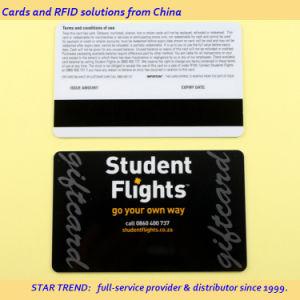 L'impression CMJN Carte à bande magnétique en plastique de la carte à puce RFID pour l'école, club, bar, d'adhésion