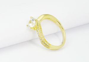 Anello di cerimonia nuziale d'argento dell'anello delle signore della signora 925 monili di modo