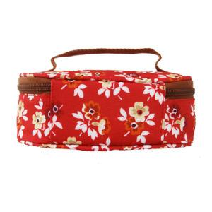 De openlucht Rode BloemenZak van de Lunch van de Picknick van de Polyester van de Meisjes van de Druk