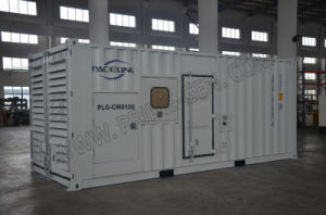 내부 자동적인 짐 은행을%s 가진 750kVA Cummins에 의하여 강화되는 Containerized 방음 디젤 엔진 Genset